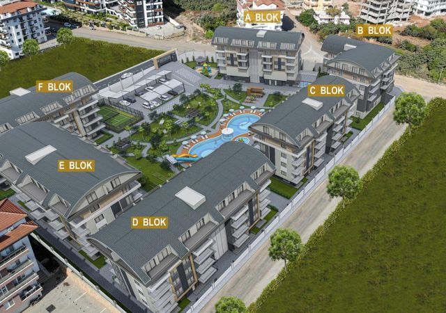 Apartments for sale in Antalya Turkey - complex DN046 || damasturk Real Estate Company 01