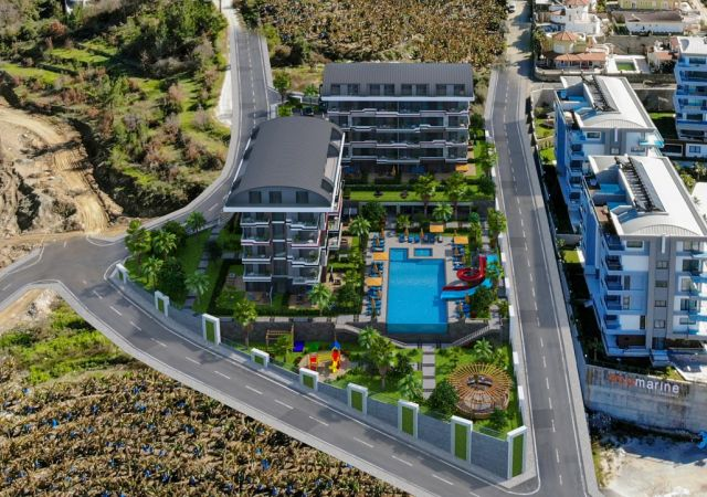 Apartments for sale in Antalya Turkey - complex DN047 || damasturk Real Estate Company 01