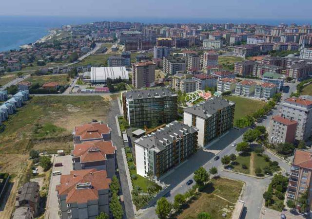 Ready to move complex with sea view and comfortable installment in Istanbul, European area, Buyukcekmece DS288 || damas.net 01