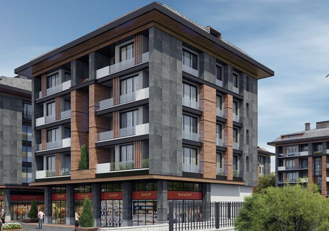 A complex of ready to move apartments and shops in Istanbul European area, Beylikdüzü DS284 || damas.net 01