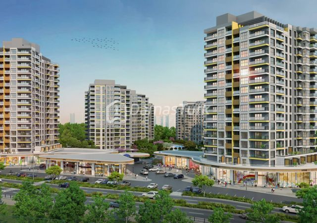 Ready apartment complex in European Istanbul in the famous Basaksehir area - DS045 || damas.net 01