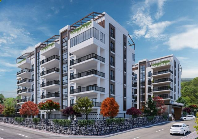 Apartments for sale in Bursa Turkey - complex DB038  || damasturk Real Estate Company 01