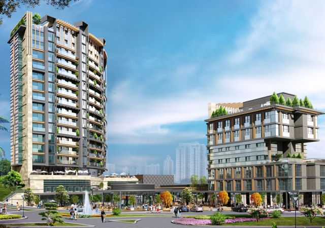 A ready-to-live apartment complex with smart apartments system and sea view in the European Istanbul, Beylikduzu district    damasturk 01