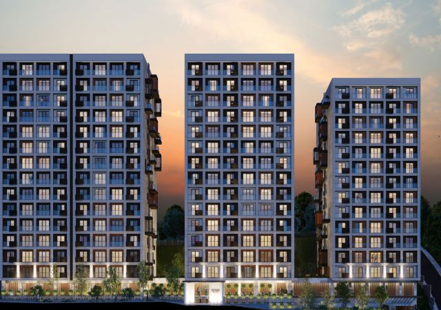 Apartments for sale in Turkey - complex DS320 || damasturk Real Estate Company 01