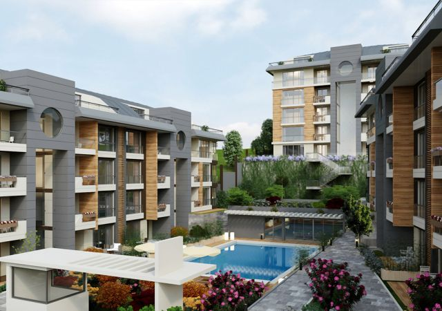 Apartments complex investment is ready to live freely with views of Istanbul European büyükçekmece area DS280 || damas.net 01