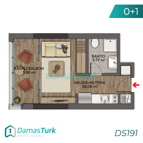 Istanbul Property - Turkey Real Estate - DS191 || damas.net 01