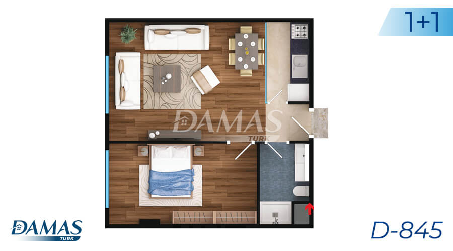 Damas Project D-845 in Istanbul - Floor Plan picture 01