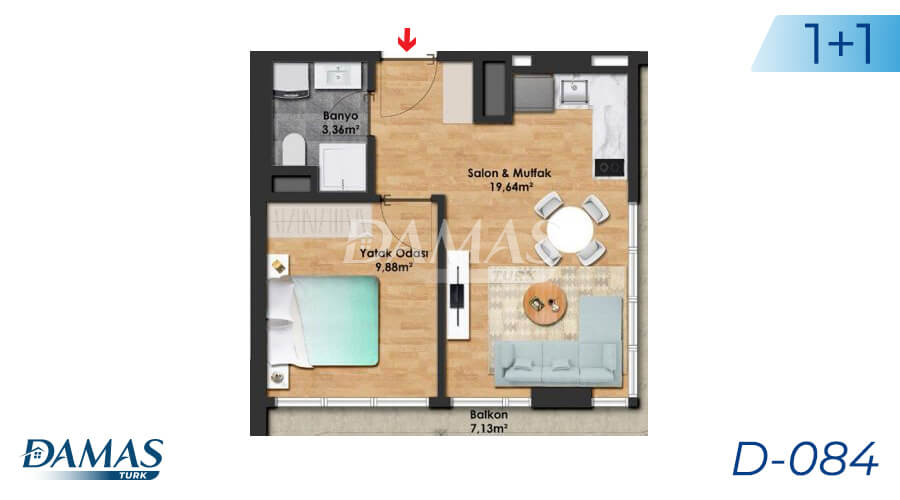 Damas Project D-084 in Istanbul - Floor Plan picture 01