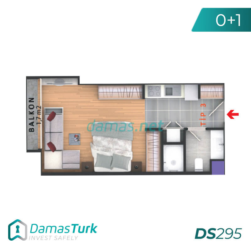 Complex apartments and offices of an investment wonderful sea views of the Sea of Marmara in Istanbul, the European Beylikdüzü area DS295 || damas.net 01