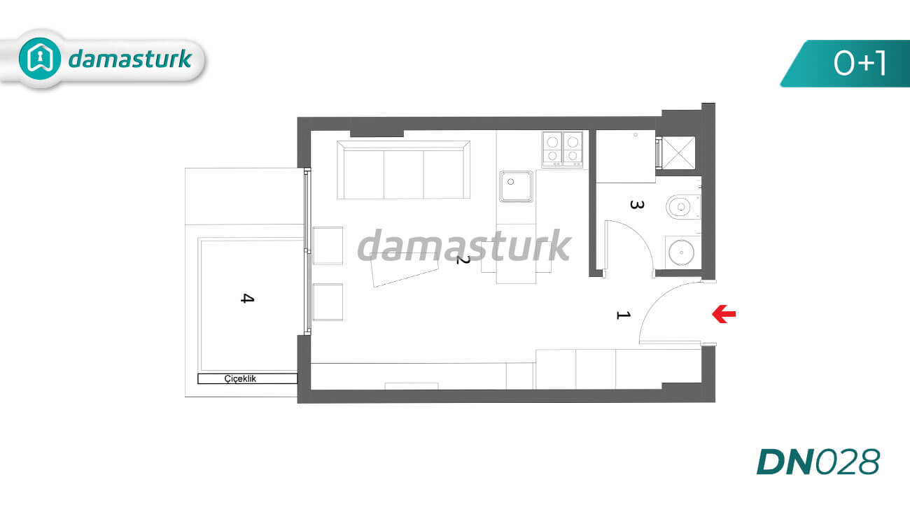 Apartments for sale in Antalya Turkey - complex DN028 || damasturk Real Estate Company 01