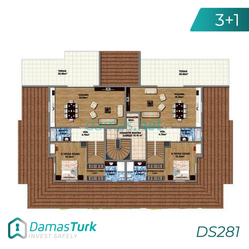Ready to move apartment complex with amazing sea view in Istanbul Buyukcekmece region DS281 || damas.net 01