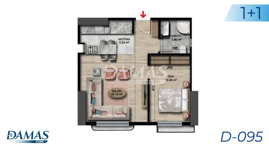 Damas Project D-095 in Istanbul - Floor plan picture 01