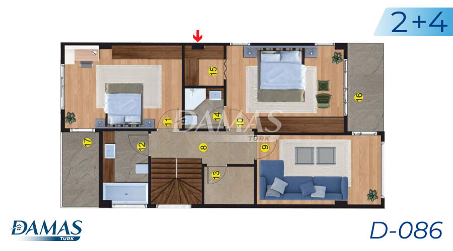 Damas Project D-086 in Istanbul - Floor Plan picture 01