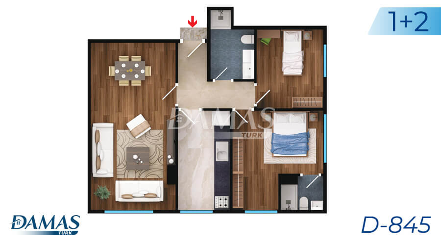 Damas Project D-845 in Istanbul - Floor Plan picture 02