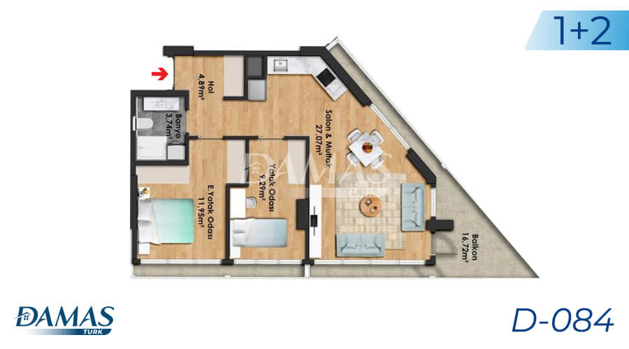 Damas Project D-084 in Istanbul - Floor Plan picture 02