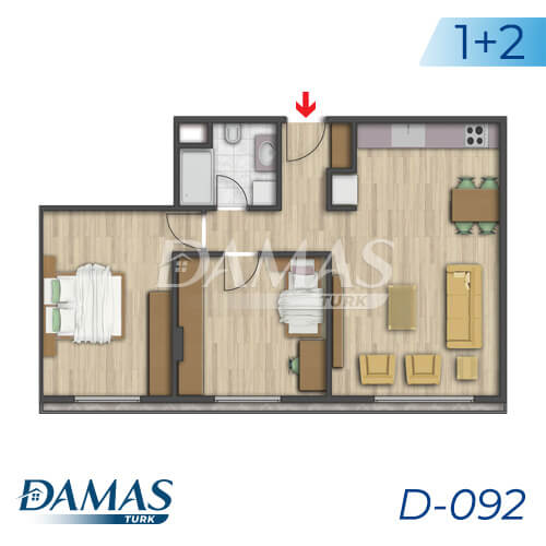 Damas Project D-092 in Istanbul - Floor Plan picture 02