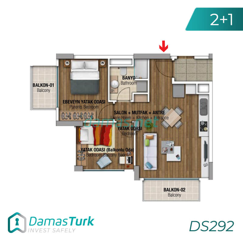 Ready investment apartment complex housing in Istanbul, the European Beylikdüzü area DS292 || damas.net 01