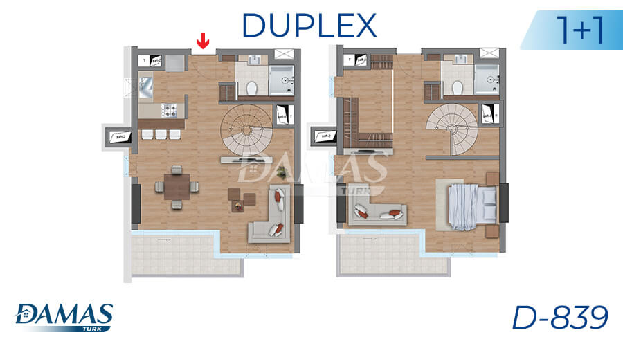 Damas Project D-839 in Istanbul - Floor Plan picture 02