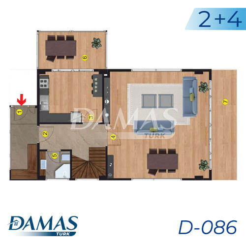 Damas Project D-086 in Istanbul - Floor Plan picture 02
