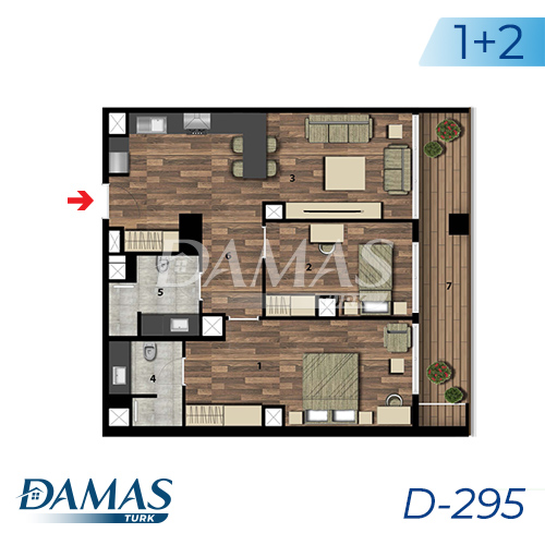 Damas Project D-295 in Istanbul - Floor Plan picture 02