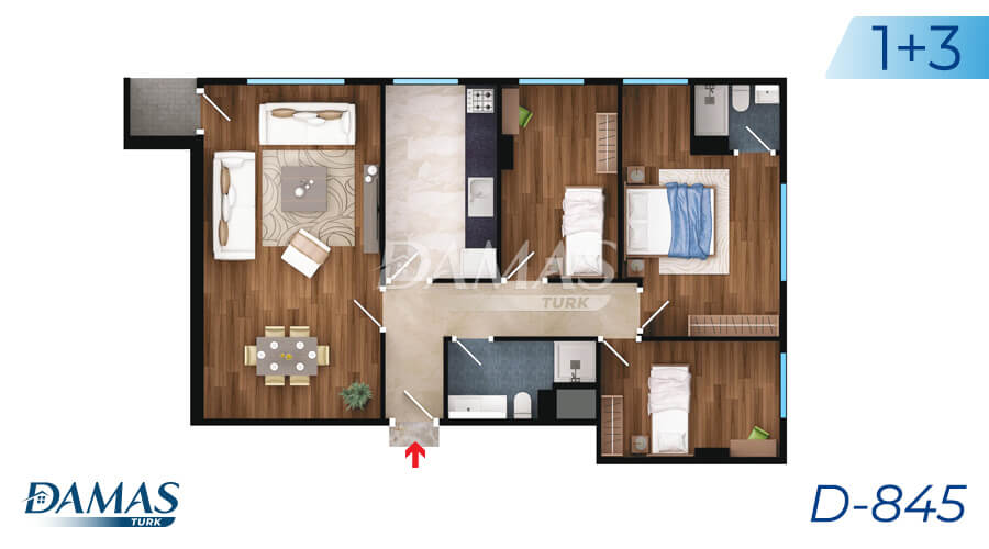 Damas Project D-845 in Istanbul - Floor Plan picture 03