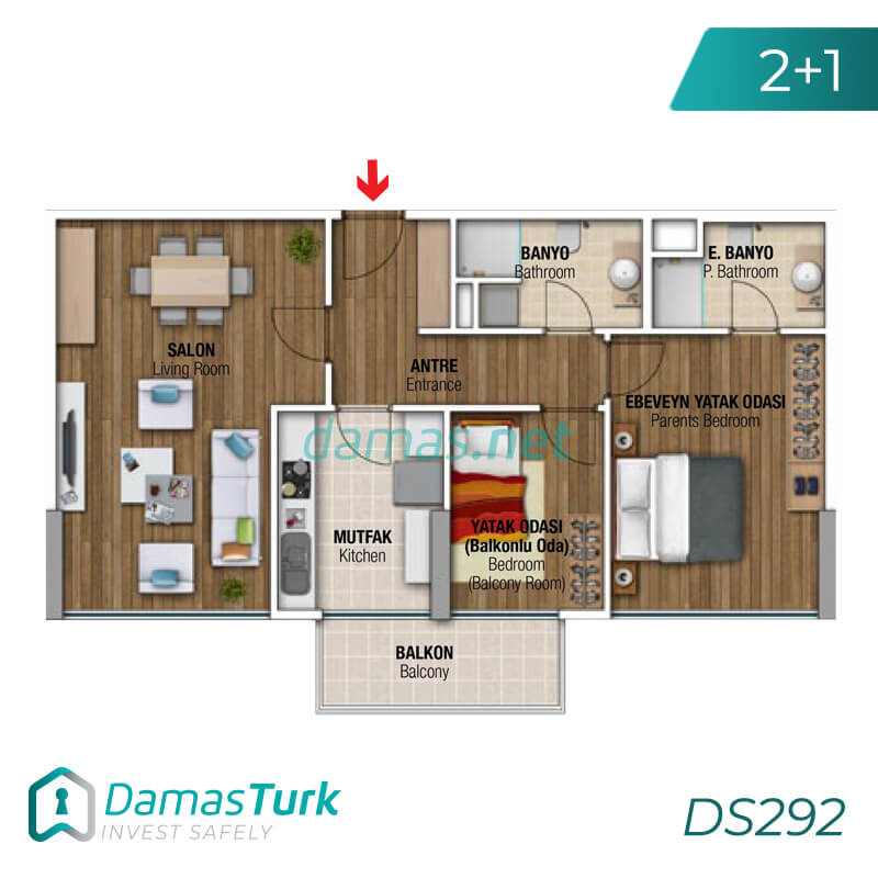 Ready investment apartment complex housing in Istanbul, the European Beylikdüzü area DS292 || damas.net 03