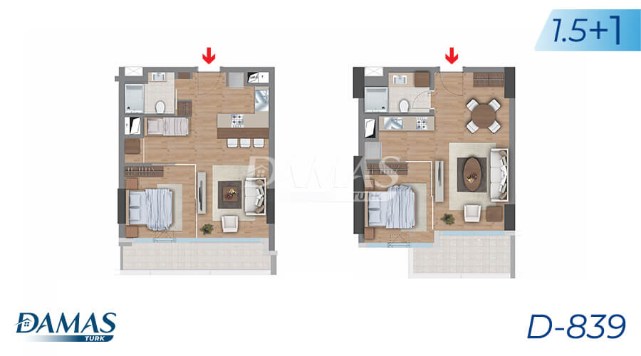 Damas Project D-839 in Istanbul - Floor Plan picture 04