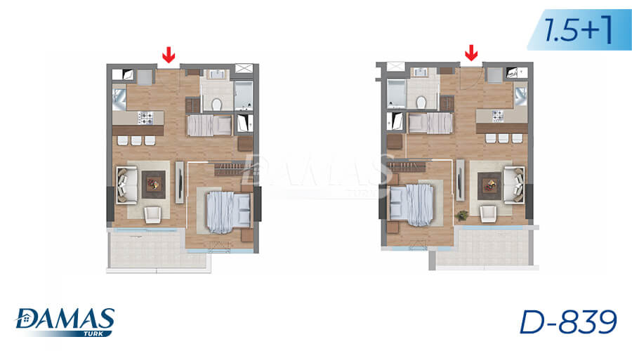 Damas Project D-839 in Istanbul - Floor Plan picture 05