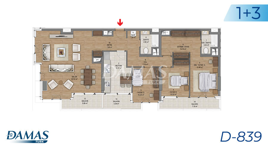 Damas Project D-839 in Istanbul - Floor Plan picture 07