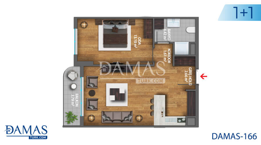 Damas Project D-166 in Istanbul - Floor plan picture  01