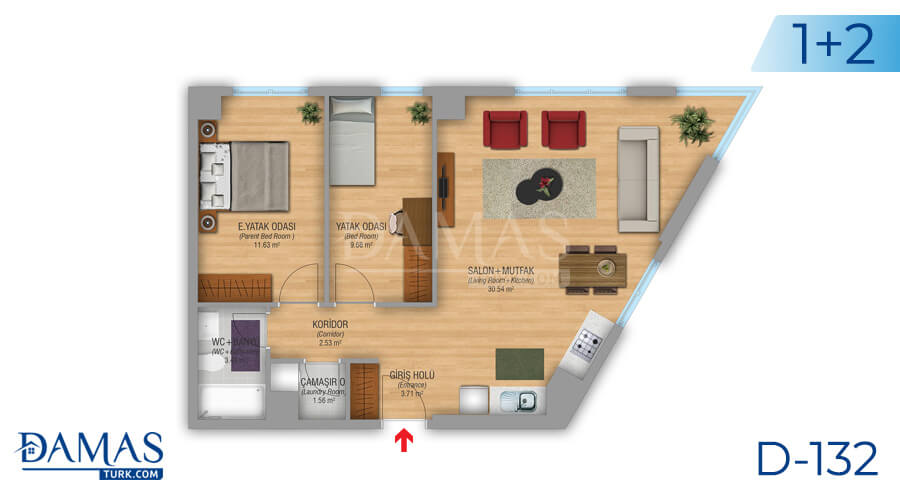 Damas Project D-132 in Istanbul - Floor plan picture 01