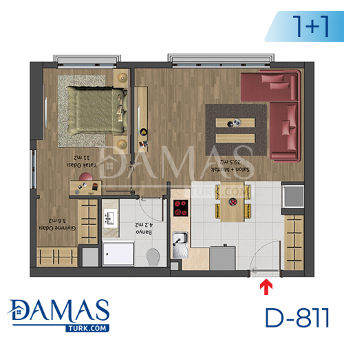 Damas Project D-811 in Istanbul - Floor plan picture 01