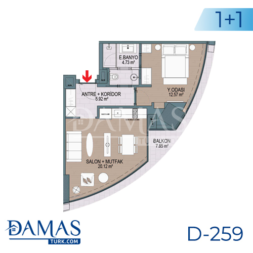 Damas Project D-259 in Istanbul - Floor plan picture 01