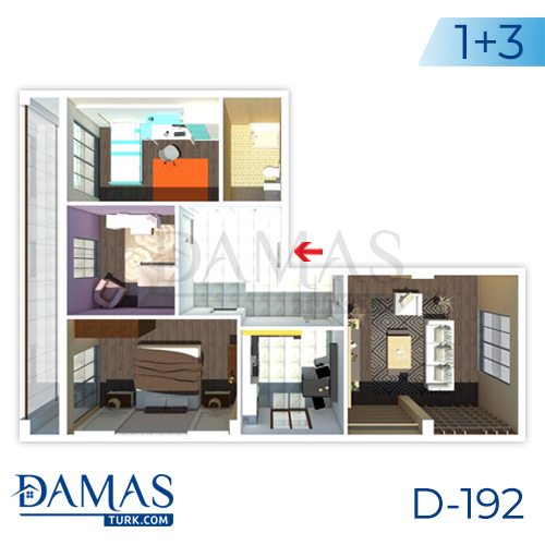 Damas Project D-192 in Istanbul - Floor plan picture  01