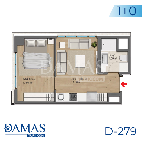 Damas Project D-279 in Bursa - Floor plan picture 01