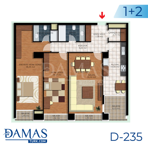 Damas Project D-235 in Istanbul - interior picture  01