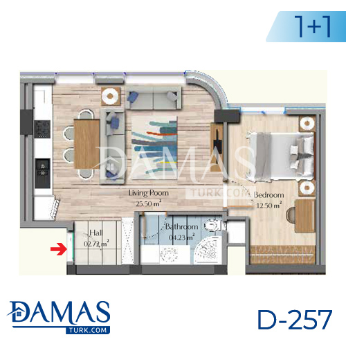 Damas Project D-257 in Istanbul - Floor plan picture 01