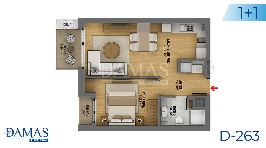 Damas Project D-263 in Istanbul - Floor plan picture 01