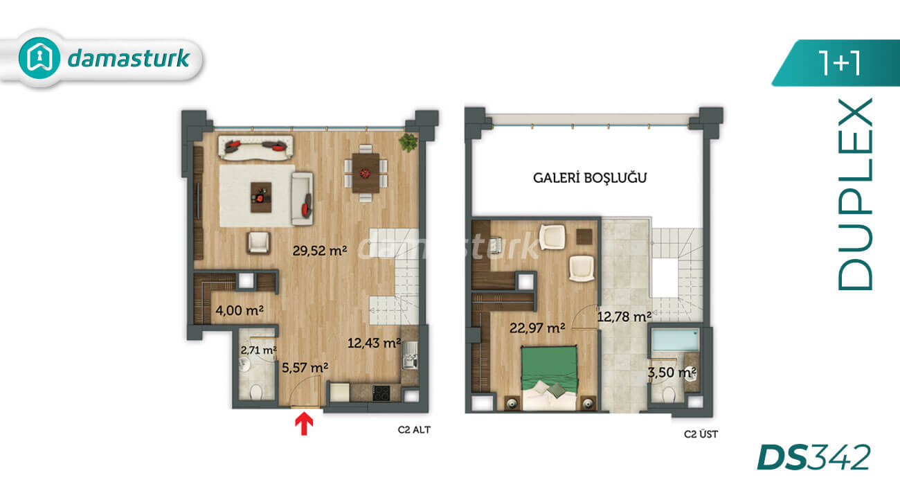Apartments for sale in Turkey - Istanbul - the complex DS342 || damasturk Real Estate Company 02