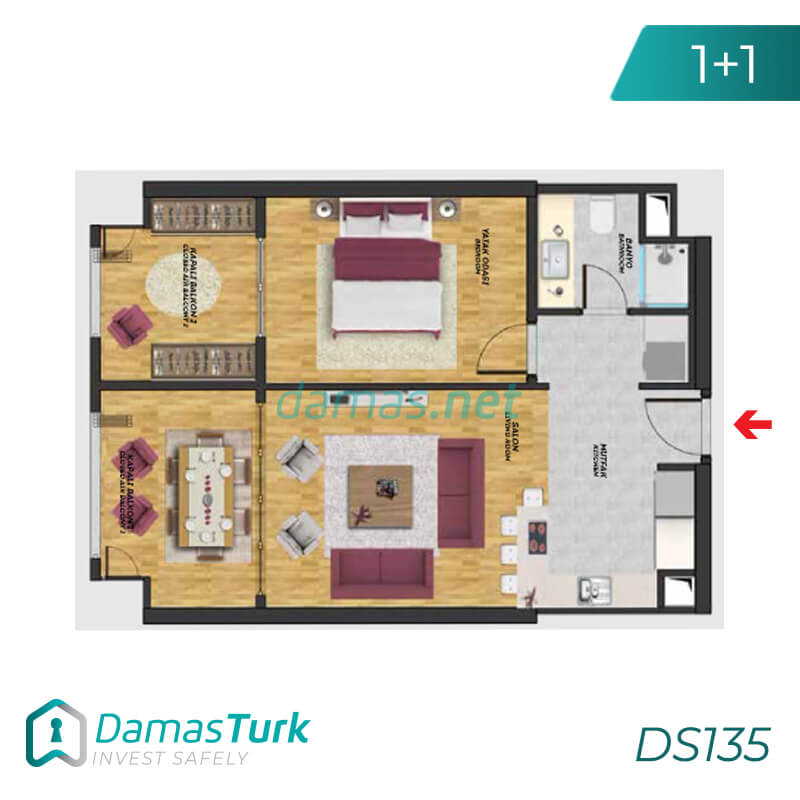 Istanbul Property - Turkey Real Estate - DS135 || damas.net 01