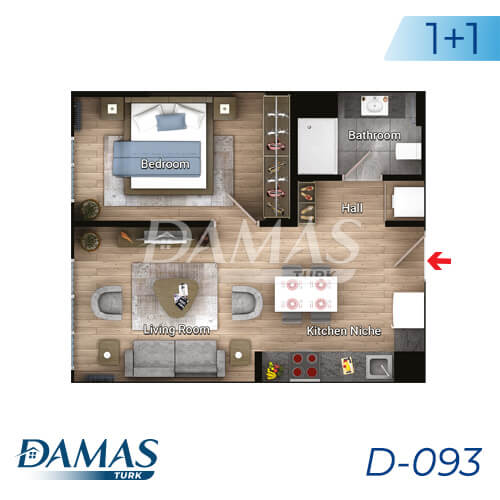 Damas Project D-093 in Istanbul - Floor Plan picture 02