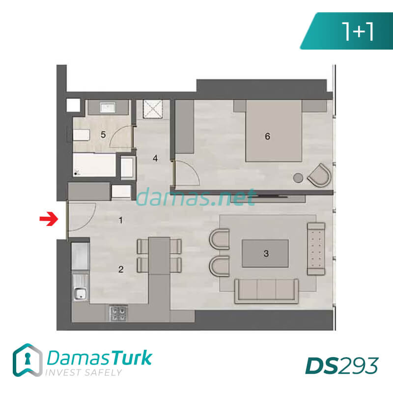 Ready investment apartments complex with a beautiful sea views in istanbul - sisli DS293 || damas.net 01
