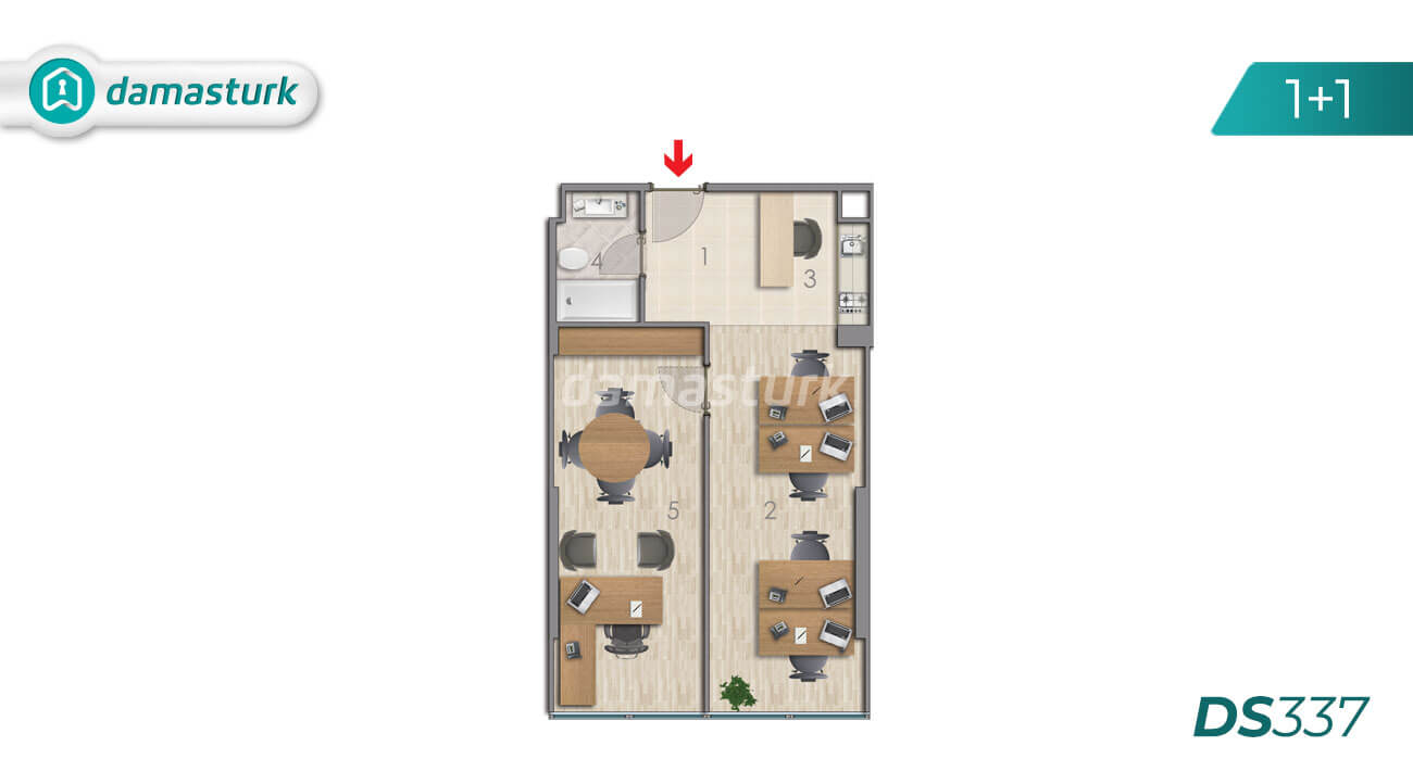 Apartments for sale in Turkey - Istanbul - the complex DS337 || damasturk Real Estate Company 01