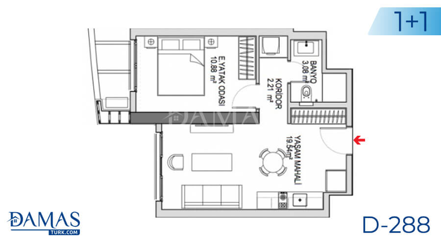 Damas Project D-288 in Istanbul - Floor plan picture 01