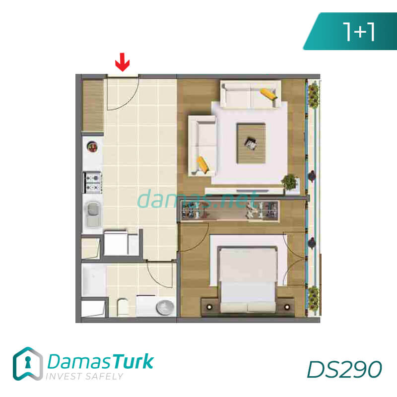 Ready to move apartment complex with green views in Istanbul, Asia DS290 || damas.net 01