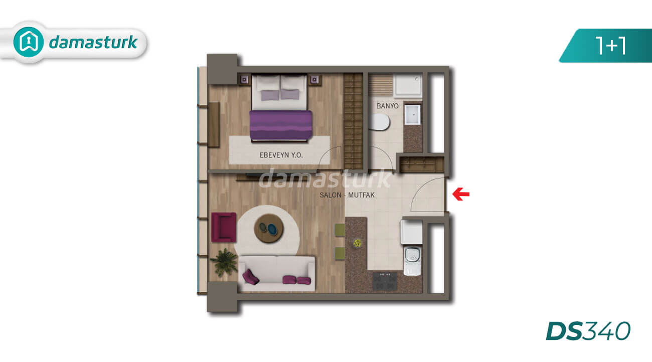 Apartments for sale in Turkey - Istanbul - the complex DS340 || damasturk Real Estate Company 02