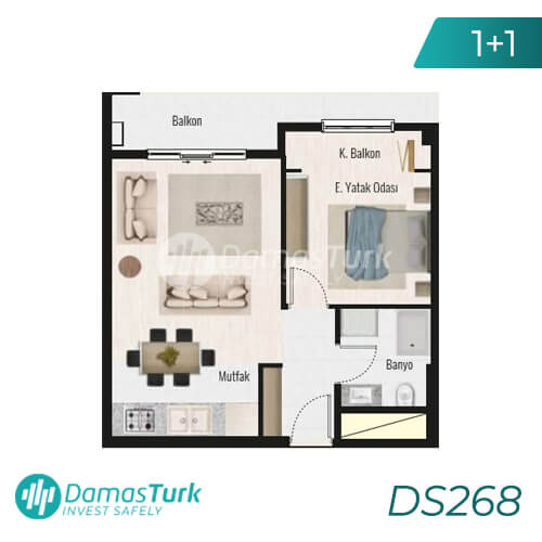 Damas Project DS268 in Istanbul - Floor Plan picture 01
