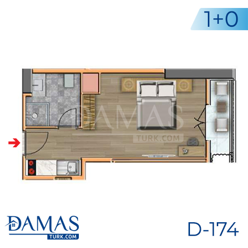 Damas Project D-174 in Istanbul -Floor plan picture  01