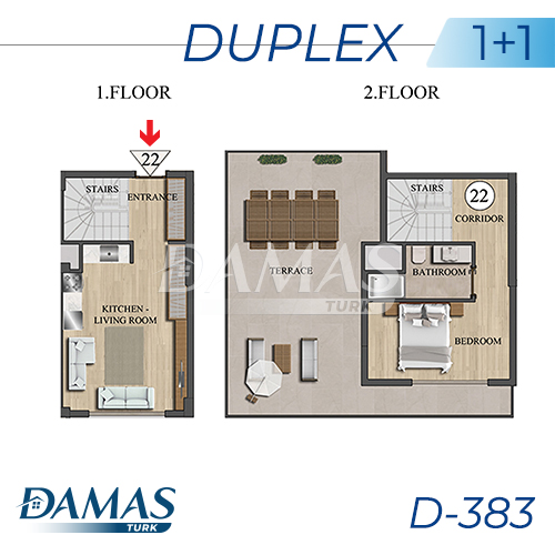 Damas Project D-383 in Istanbul - Floor Plan picture 02