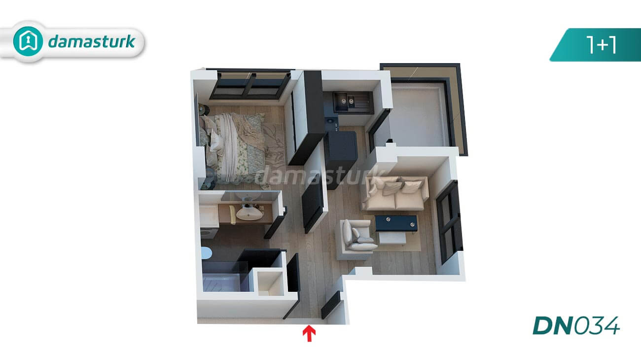 Apartments for sale in Antalya Turkey - complex DN034 || damasturk Real Estate Company 01